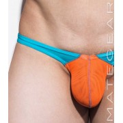 Mategear Nan Song XVI Tapered Sides V Front Double Mesh Ultra Pouch Bikini Swimwear Orange 1830601