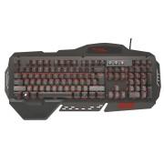 Trust GXT 850 Геймърска метална клавиатура с подсветка