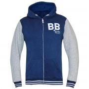 Bad Boy Kid's Varsity Hoodie - grijs/blauw M
