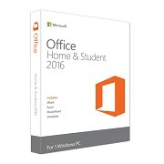 Microsoft Office Home and Student 2016 English, medialess P2, 32-bit/x64, 79G-04597
