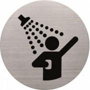 Információs tábla, rozsdamentes acél, HELIT, zuhanyozó (INH6271300)