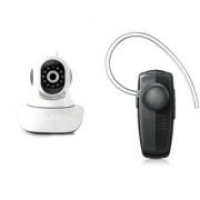 Zemini Wifi CCTV Camera and HM 1100 Bluetooth Headset for LG OPTIMUS IT(Wifi CCTV Camera with night vision |HM 1100 Bluetooth Headset With Mic )