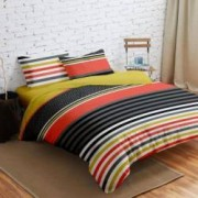 Lenjerie de Pat Dubla Heinner Home VN-4BEDYX60-STR, 4 piese Multicolor