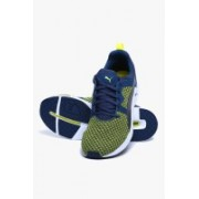 Puma Pulse Xt Knit Poseidon-Sulphur Spring Running Shoes For Men(Blue)