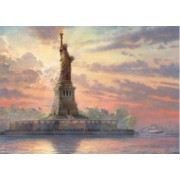 Puzzle Schmidt 1000 Thomas Kinkade Statue of liberty in the twilight glow in the dark