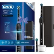 Oral B Smart 4 4500 Black Edition escova de dentes eléctrica + estojo D601.523.3X