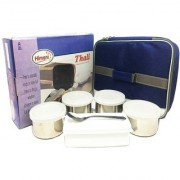 The Greens Thali Lunch Box with 5 Air Tight Containers 1 Spoon