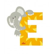 alphabets and numbers (Animal Alphabet E [yellow])