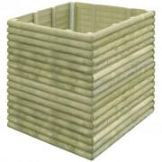 vidaXL Garden Planter 106x106x96 cm Impregnated Pinewood