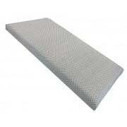 Cearsaf cu elastic pe colt 120x60 cm Buline albe pe gri