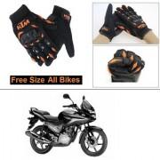 AutoStark Gloves KTM Bike Riding Gloves Orange and Black Riding Gloves Free Size For Honda CBF Stunner