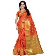 Lattest Designer orange cotton Silk kanjivaram saree Best selling under 999 popular products low price new arrivals Design Sarees New Collection 2018