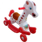 Oh Baby Multi color Rocking Plastic Giraffe With Wheel SE-RT-29