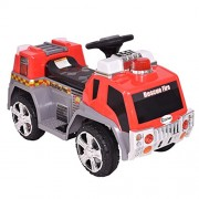New 6V Kids Ride On Rescue Fire Truck Electric Battery Powered w/Lights&Music