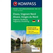 62damrak Kompass Wk2220 Elzas Vogezen Noord