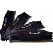 Kit Memorie G.Skill Ripjaws V Black 32GB 4x8GB DDR4 3200MHz CL15 Quad Channel