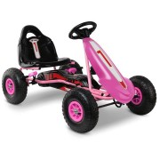 Rigo Kids Pedal Go Kart Car Ride On Toys Racing Bike Rubber Tyre Adjustable Seat [GKRT-F1C-PK]