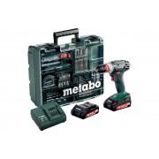 Электроинструмент Metabo BS 18 Quick 10мм 2.0Ah x2 Case Set2
