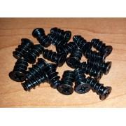 20 x Case Fan Screws (šrafovi za kulere, 20 komada, crne boje)