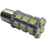 Autós led BA15Y fék+helyzetjelző lámpa világítás, 24 led, 4W, hideg fehér. Life Light Led. Már csak az Alkotás utcai üzletben!