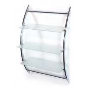 AWD Półka na ścianę 3-poziomowa chrom + szkło AWD02050026