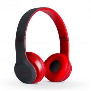Bluetooth fejhallgató mikrofonal ,rádio fm és SD kártya ,P47 Piros