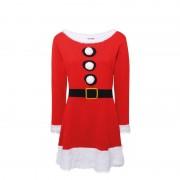 Geen Gebreid Kerstvrouw jurkje voor dames
