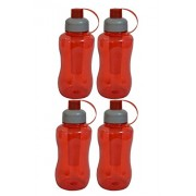 High Quality Imported Sipper Transparent 800 ml Water Bottle (Set of 4)