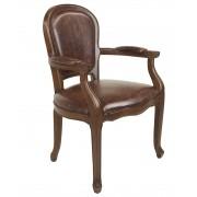Jean-Paul Armchair - Brown Bi-Cast Leather - Walnut Timber