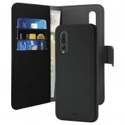 Puro 2-in-1 Magnetic Huawei P30 Lite Wallet Case - Black