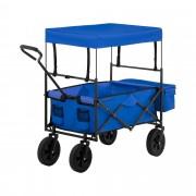 Chariot pliable avec toit - Bleu