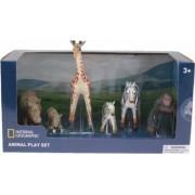 Set 6 figurine National geographic Maimuta Antilopa Crocodil Elefantul si puii