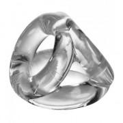 Oxballs Atomic Jock Tri Sport 3 Ring Sling Cock Ring Clear OXAJ1076