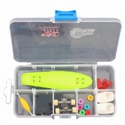 Remeehi Finger Skateboard With Storage Box Mini Finger Skateboard Set Educational Toys Sets Great Gift For Kids Mini Fingertip Skateboards Green