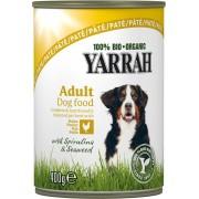 Pate Bio de pui cu spirulina si alge marine pentru caini, 400g, Yarrah
