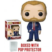 Funko Pop! Royals: The Royal Family - Prince Harry Vinyl Figure (Bundled with Pop Box Protector Case)