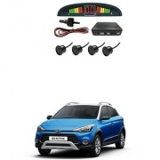 KunjZone Car Reverse Parking Sensor Black With LED Display Parking Sensor For Hyundai i20 Active