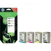 Комплект мастилени касети HP 940XL 4-pack High Yield Black/Cyan/Magenta/Yellow Original Ink Cartridges, C2N93AE