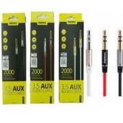 Kabl audio 3.5mm M/M L200 bela Remax, 2m
