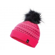 Girls' Homey Fleece Lined Knit Faux Fur Bobble Beanie Neon Pink
