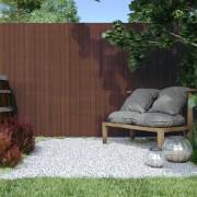 Jarolift Płotek ogrodowy, Brązowy, 140cm x 400cm, PVC