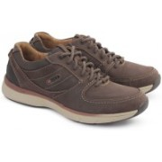 Clarks SEVERON FLY DARK BROWN NUB Driving Shoes For Men(Brown)