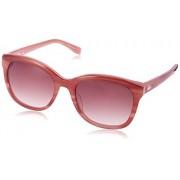 Lacoste Women 's l819s rayas y ribete Cateye anteojos De Sol, diseo de rayas Nude, 54mm