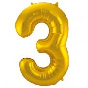 Sifferballong Guld 3