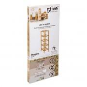 5five Simple Smart Bambusová knihovna, jednoduchý a elegantní kus nábytku s pěti úložnými policemi