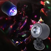 5V 6W Colorido Coche Decoracion DJ Luz Sonido Activado Rotating Efecto Estroboscopico Estrella De Luz De La Lampara De Luz Ambiente Musical Con 6 Luces LED RGB, Longitud De Cable: 4m (luz Colorida)