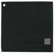 Essuie-mains Curl noir carré 50 cm Winkler