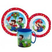 Super Mario micro étkészlet szett bögrével