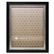 Lawrence Frames 536480 Black with Burnished Silver Composite Picture Frame, 8 by 10 Inch