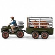 SCHLEICH Quad bike with trailer and ranger 42351
